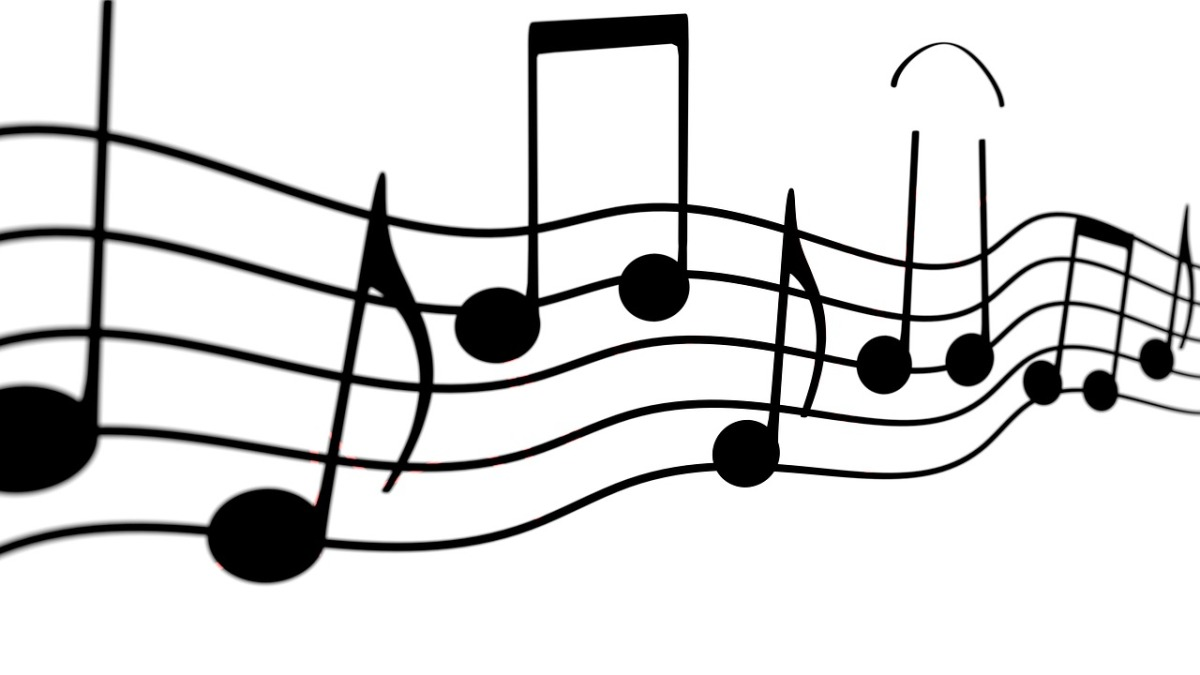 Image showing musical notes on a stave.