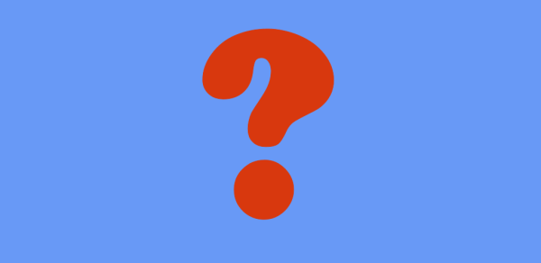 image showing a question mark on a plain background