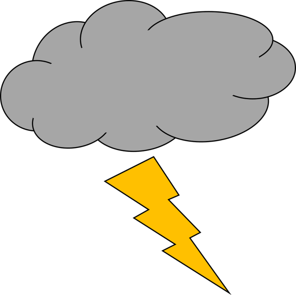 clipart image of thunder and lightning