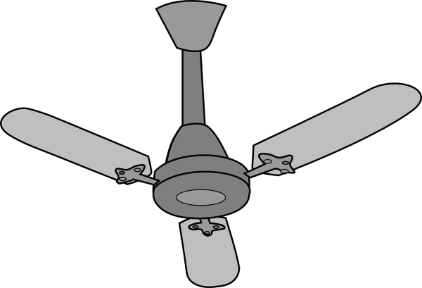Clipart image of an electric ceiling fan