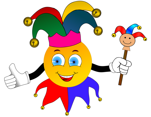 Clipart image of a court jester