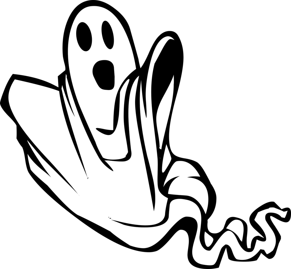 Clipart image of a ghost.