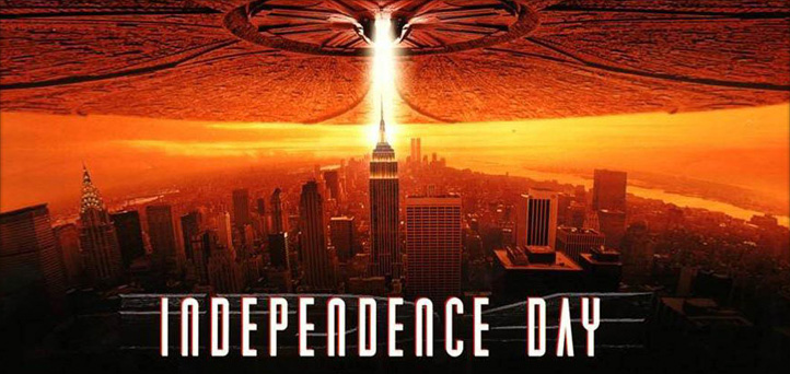 "clipart showing a publicity poster from the movie ""Independence Day"""