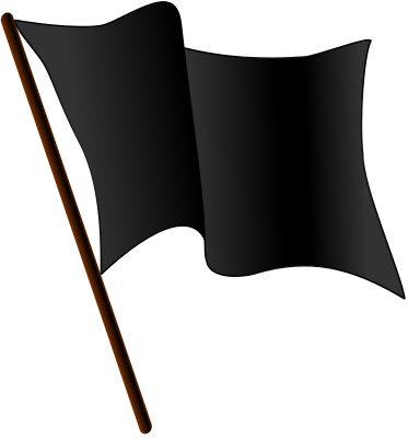 clipart showing a black flag waving