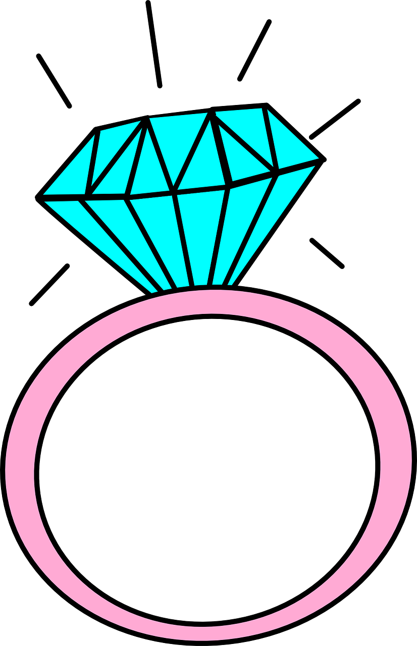 clipart of a diamond ring
