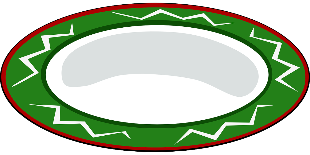 clipart showing an empty dinner plate.