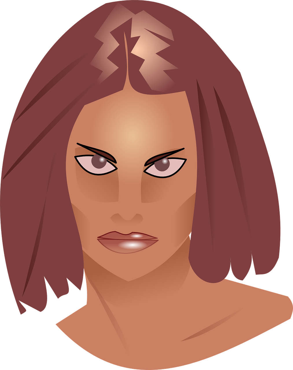 clipart of an angry woman