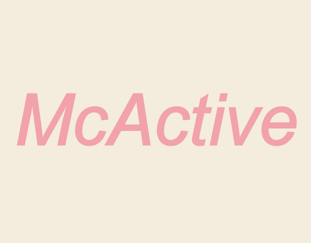 """An image showing the text """"McActive"""""""