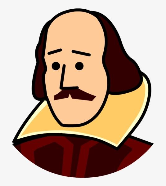 Clipart Image of William Shakespeare
