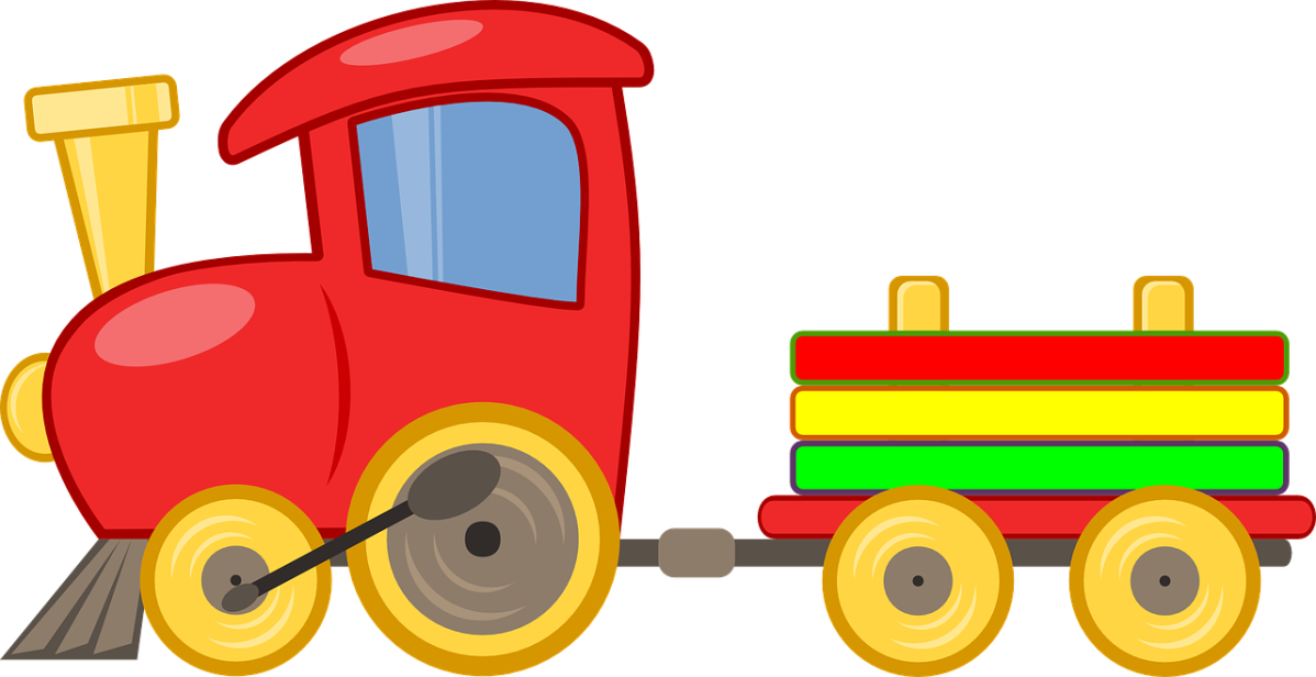 clipart showing a toy train