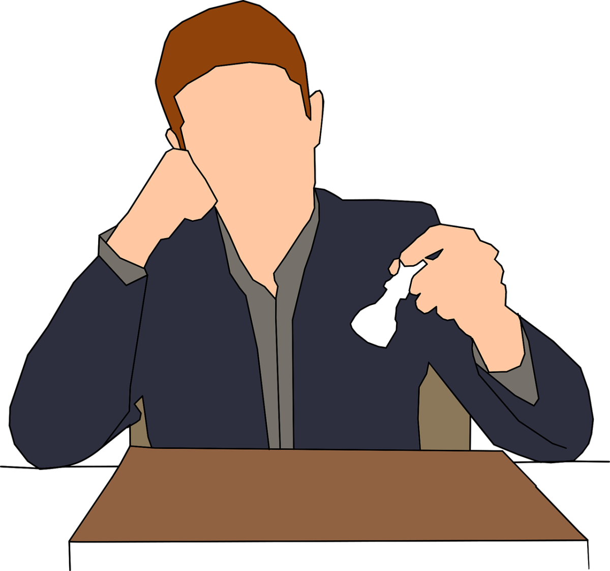 Clipart of a man playing chess