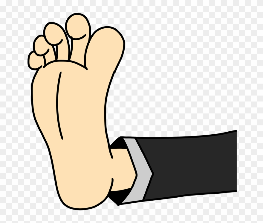 jokey clipart of a foot.