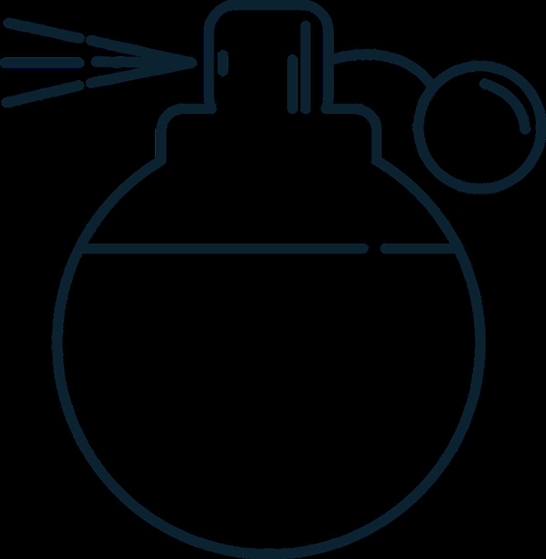 A pump-action perfume bottle.