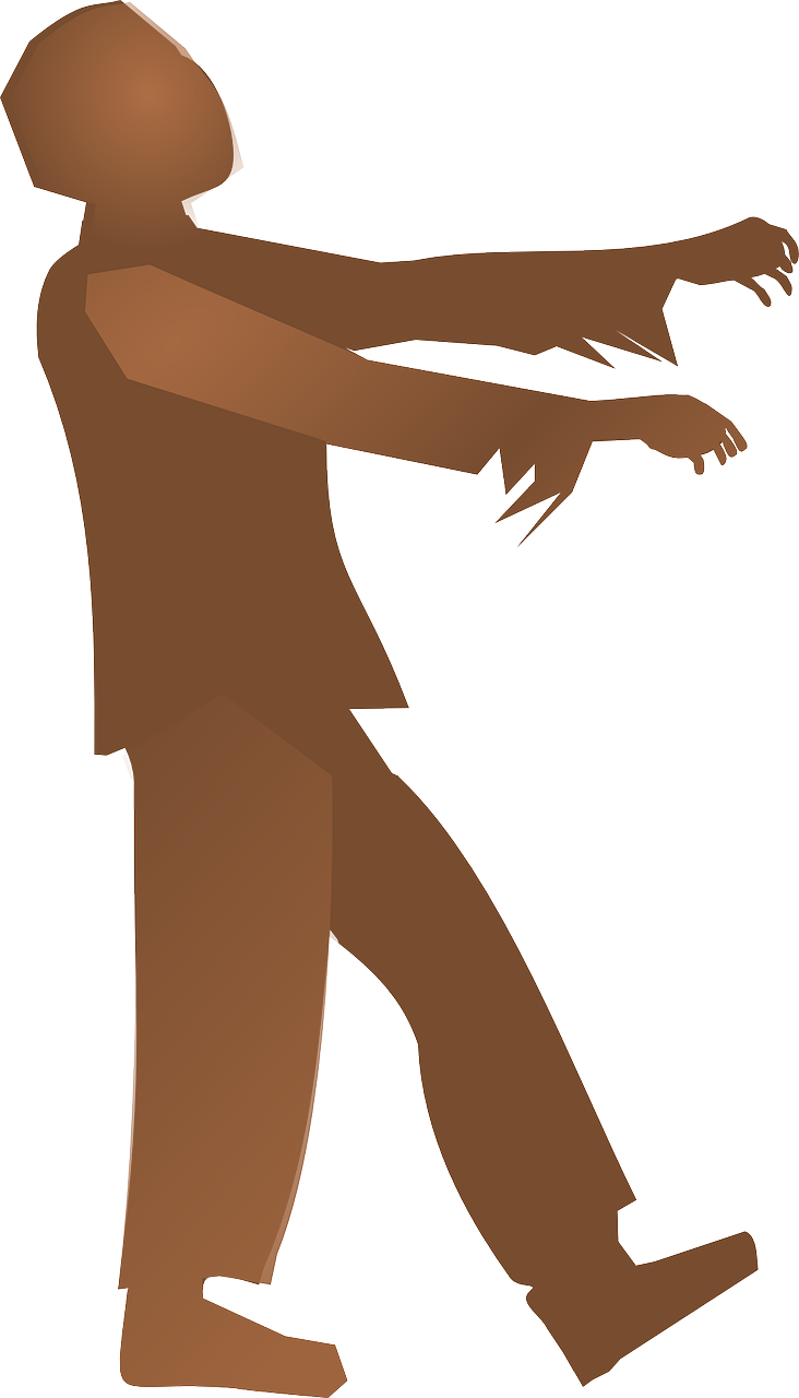 clipart of a zombie