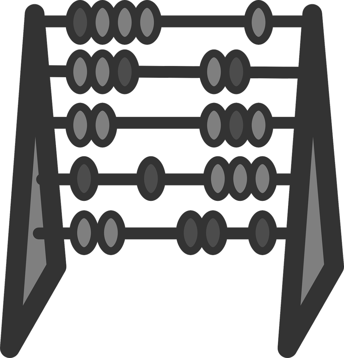 Clipart image of an abacus.