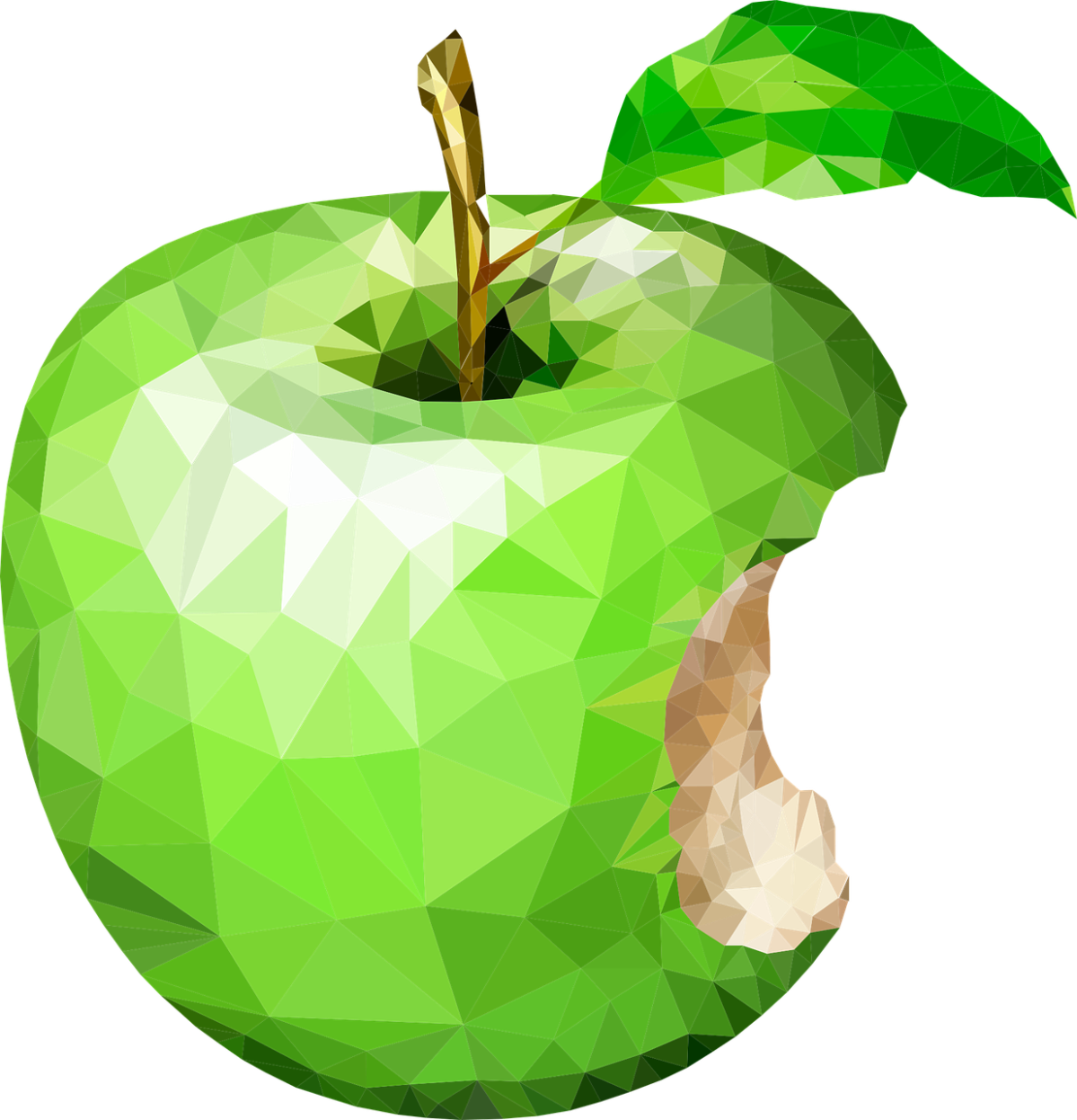 Clipart image of a juicy, green apple