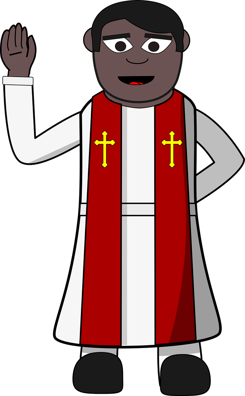 Clipart image of a clergyman.