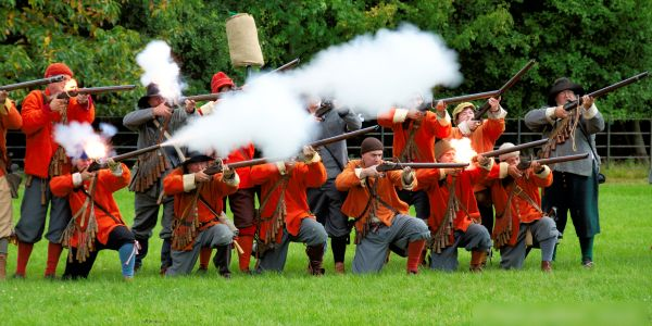 Roundheads, during a reenactment from the English Civil War