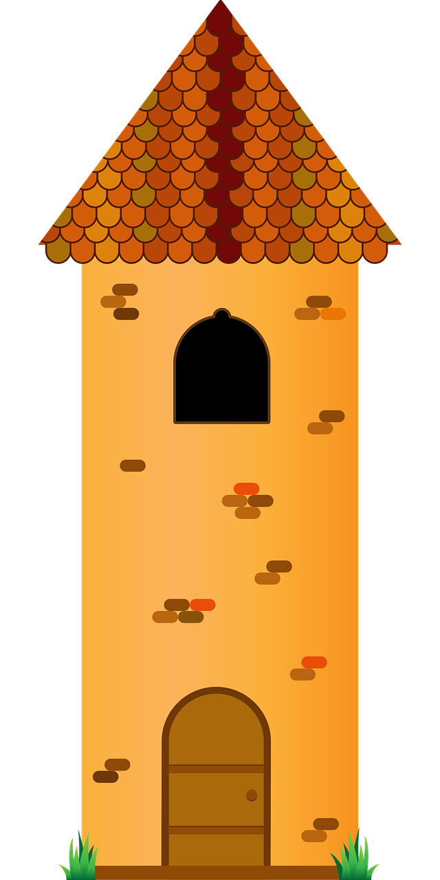 Clipart image of a high tower