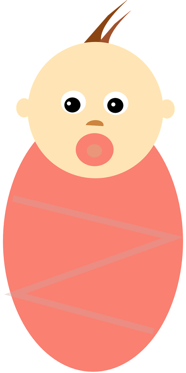 Clipart image of a baby