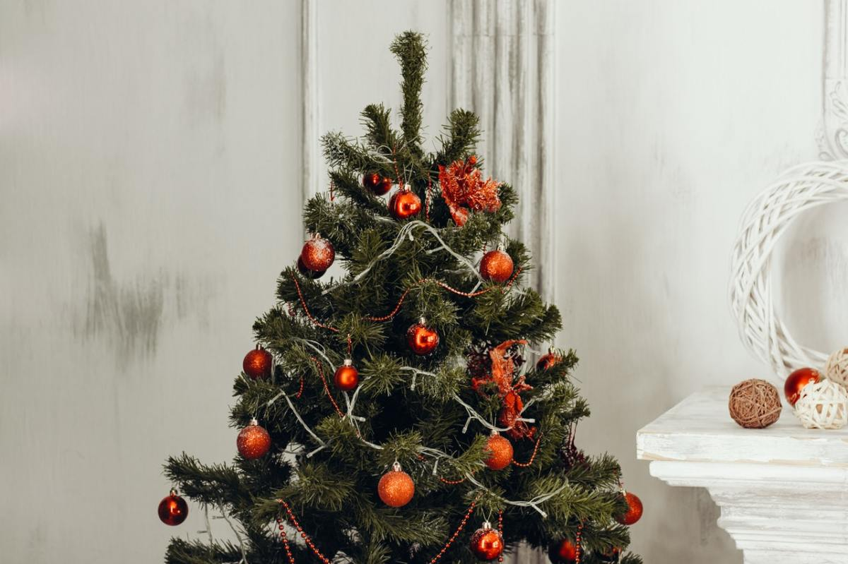 Photograph of a decorated christmas tree
