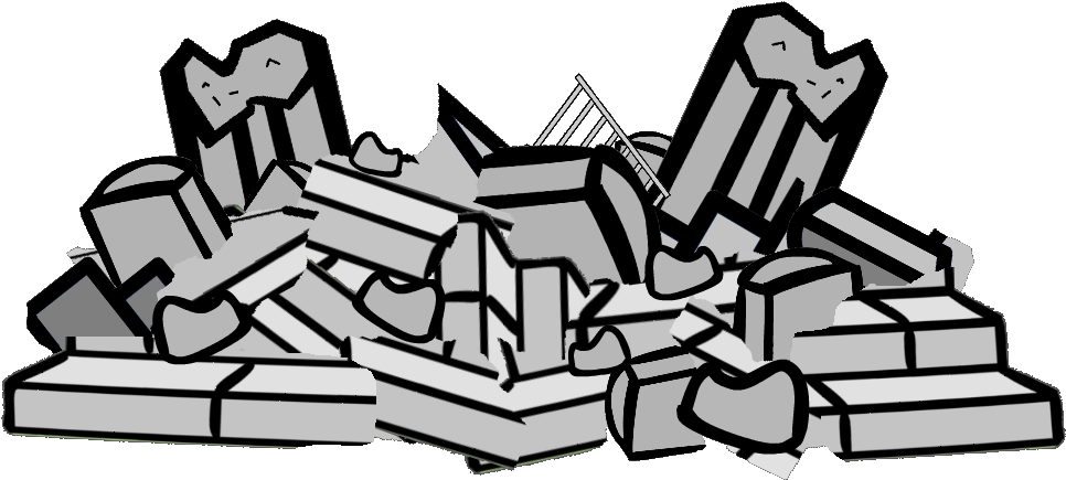 Clipart image of a pile of rubble