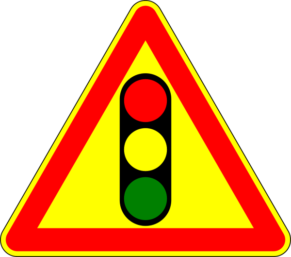 """Clipart image of a """"traffic light"""" motor sign"""