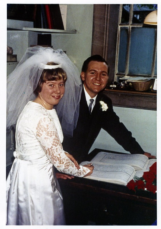 An image of my mother and father, on their wedding day.