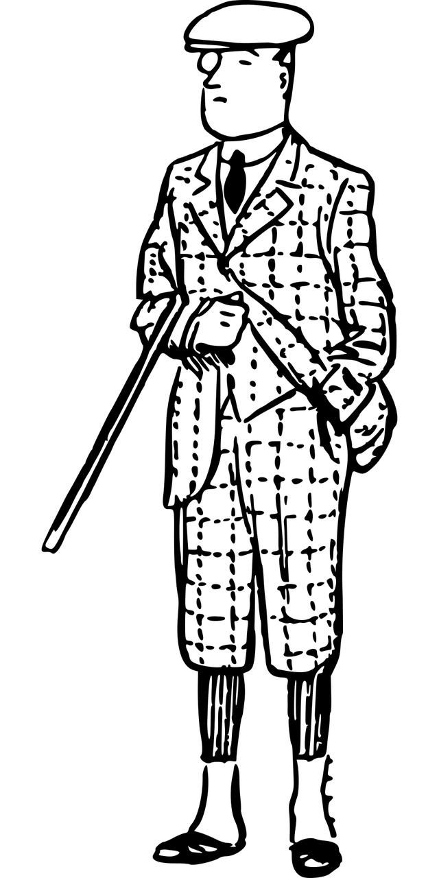 Clipart image of a country squire