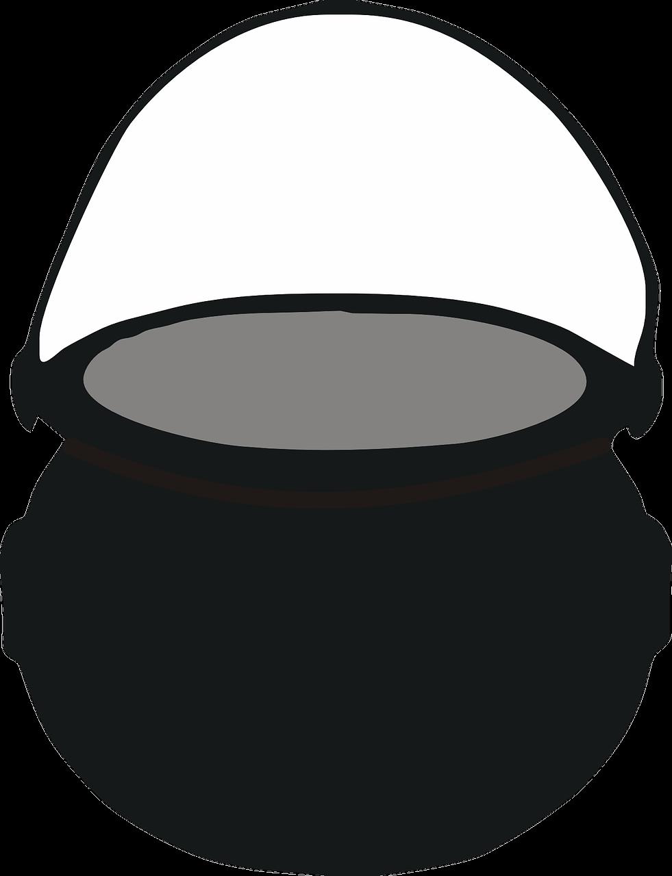 Clipart image of a cauldron