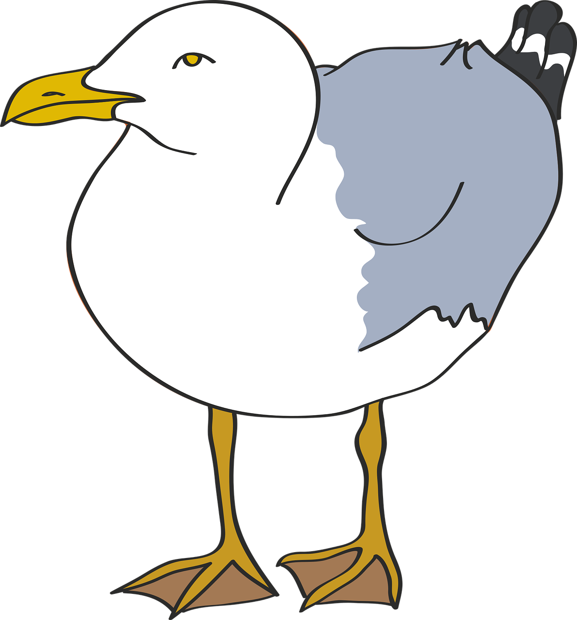 Clipart Image of a seagull