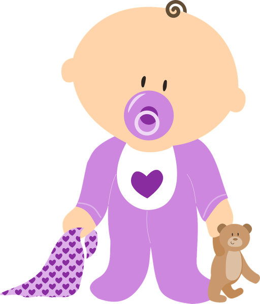 Clipart image of a toddler