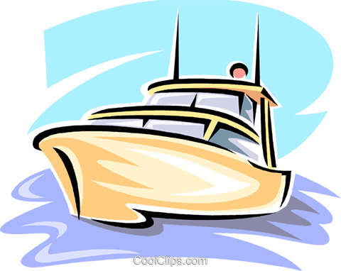 clipart image of a pleasere boat