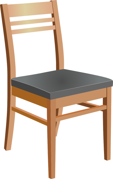 clipart image of a wooden chair