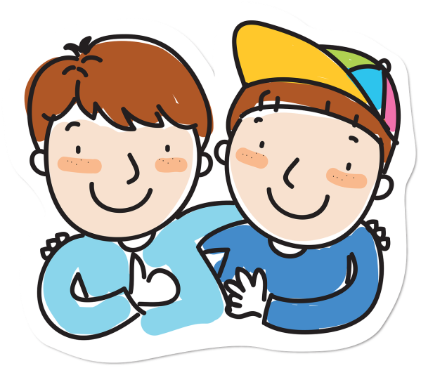 Clipart showing a pair of best friends