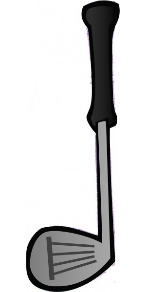 Clipart image of a golf club