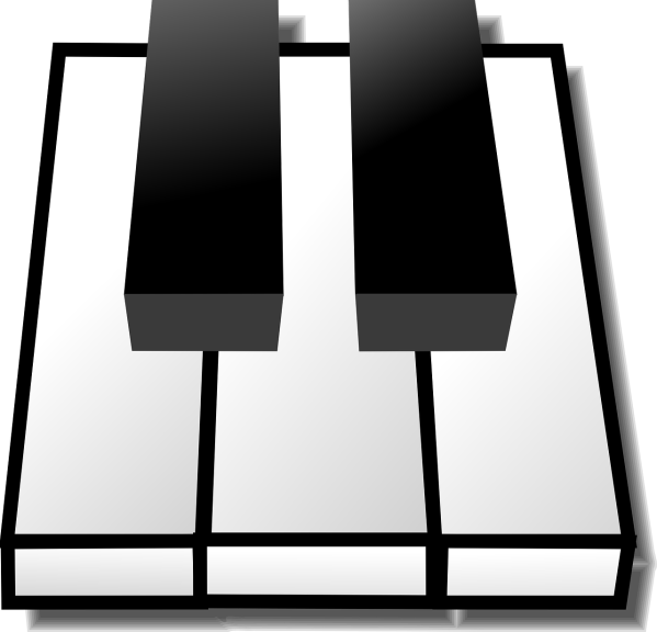 clipart image of some piano keys