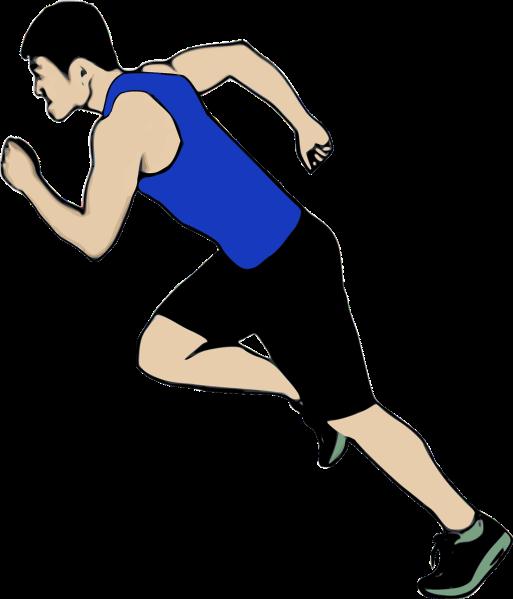 Clipart of a sprinter, racing