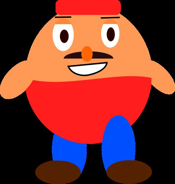 Clipart cartoon image of a fat man.