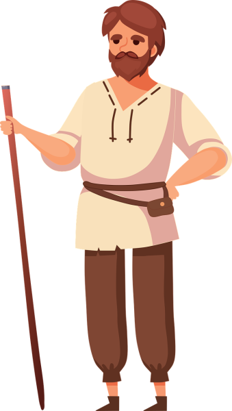 clipart image of a peasant