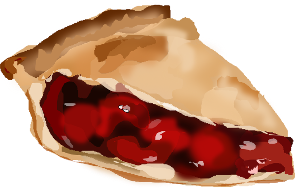 Clipart image of a slice of cherry pie