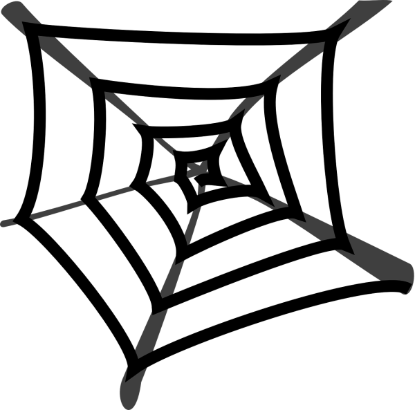 clipart image of a spider's web