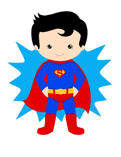 clipart image of superman